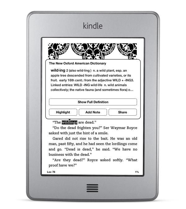 Kindle Touch Gestures | Thomas Park
