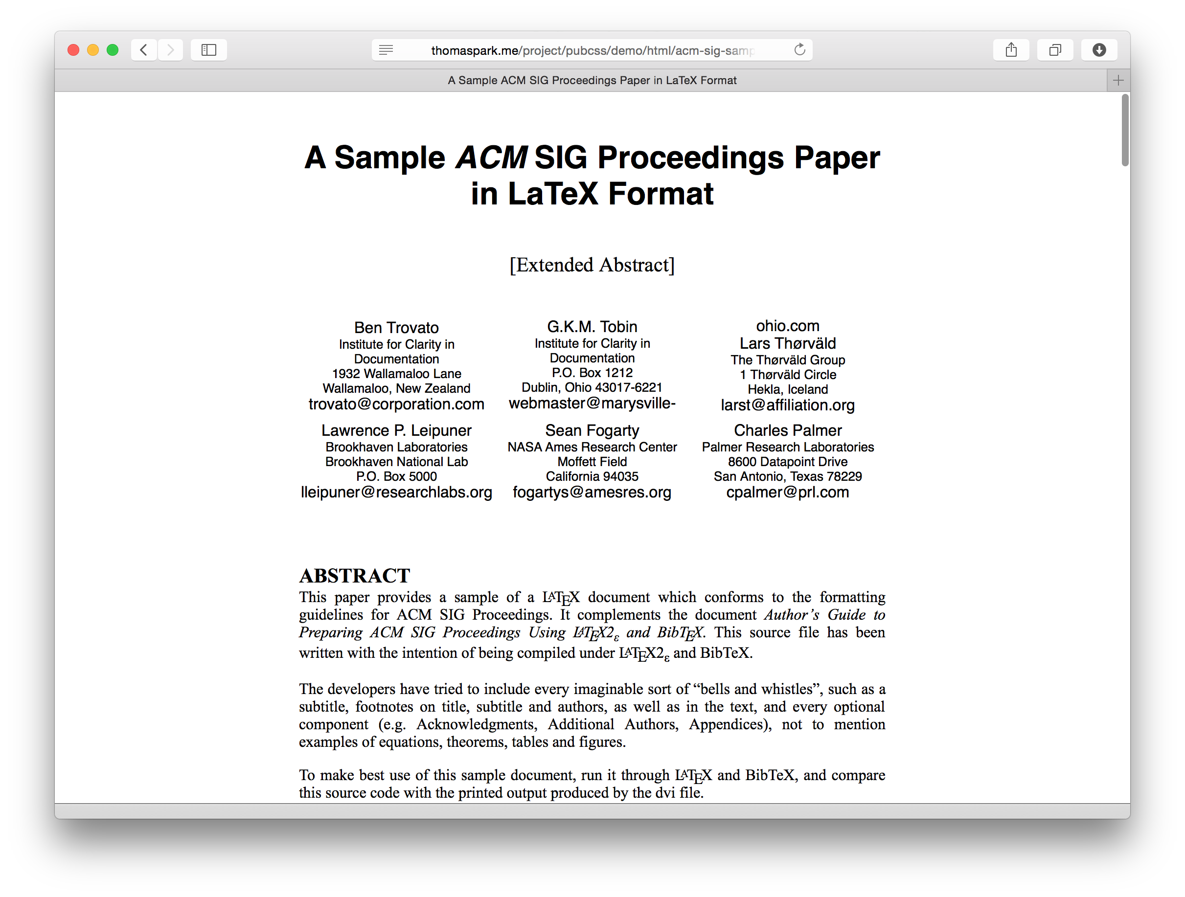 Pubcss formatting academic publications in html css for Responsive stylesheet template