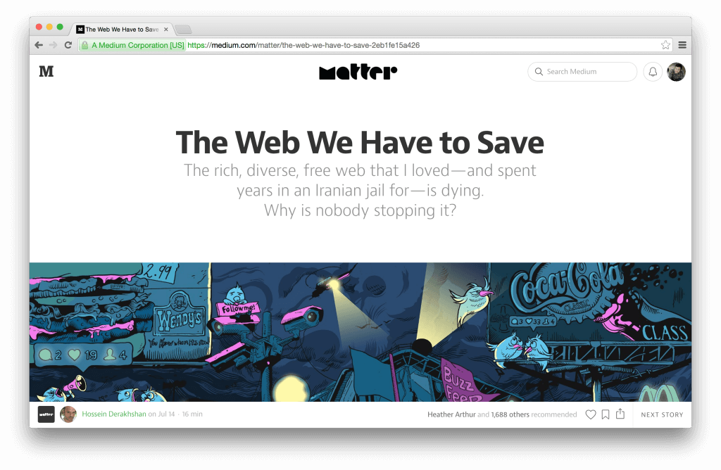 The Web We Have to Save by Hossein Derakhshan — Medium