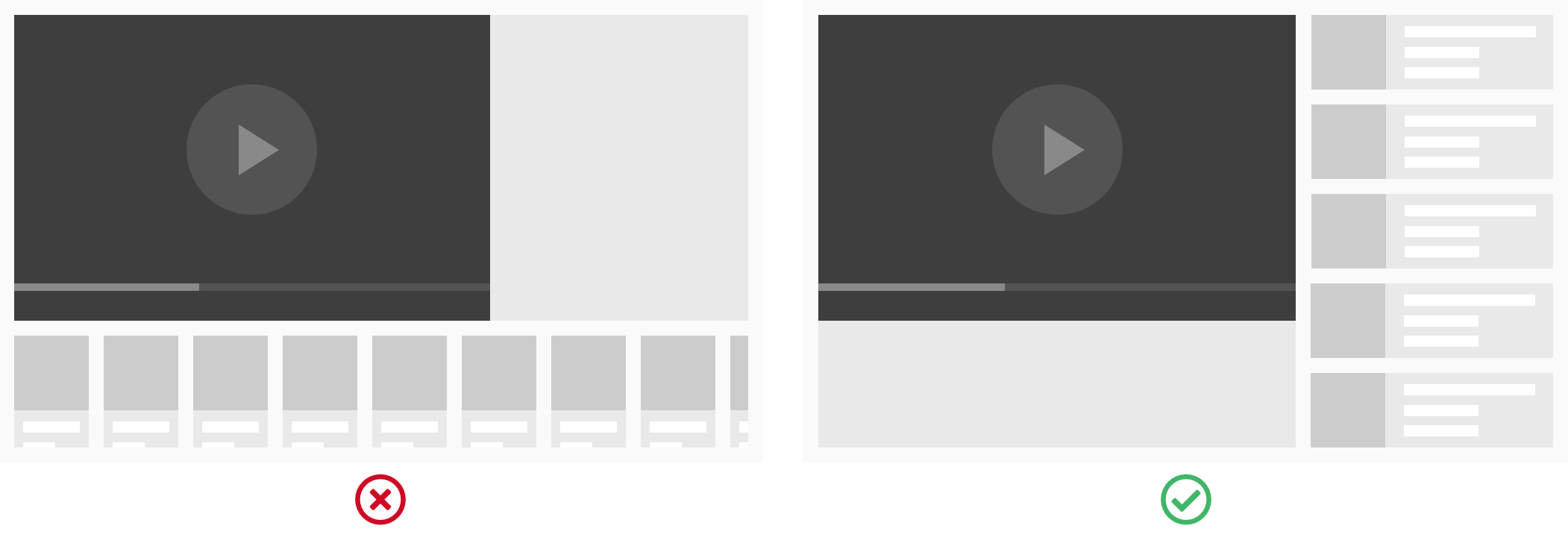 Vertical vs horizontal scrolling